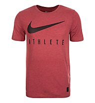 Nike Dri-Blend Mesh Swoosh Athlete Training Shirt Männer, Red