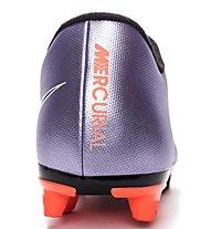 Nike Mercurial Vortex II FG Fußballschuh Herren, Lilla/Nero/Arancio
