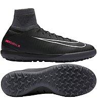 Nike Mercurial X Proximo II TF Jr Kinder-Fußballschuh für synthetische Hartplätze, Black