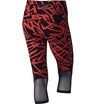 Nike Power Epic Lux - Damen Capri, Red/Black