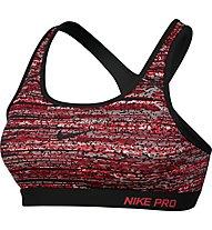 Nike Pro Classic Padded Static Sports Sport-BH, LT Crimson/Black/Black/Black