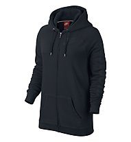 Nike Rally Boyfriend Fit Full Zip giacca con cappuccio donna, Black/Black/Black
