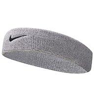 Nike Swoosh Stirnband, Silver/Black