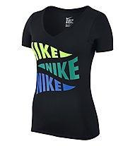 Nike Tee V Varsity Pennant T-Shirt Damen, Black