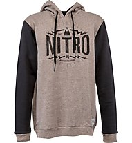 Nitro Triumph Men's Hooded Pullover, Brown Heather