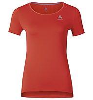 Odlo Clio Running-Shirt Damen, Cherry Tomato