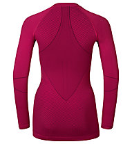 Odlo Maglia funzionale manica lunga donna Evolution warm shirt l/s crew neck, Sangria/Zinfandel