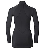 Odlo Maglia funzionale manica lunga con colletto Evolution warm Shirt l/s Turtle neck 1/2 Zip, Black/Odlo Graphite Grey