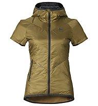 Odlo Loftone s/s hoody PrimaLoft Vest W's Gilet sci donna, Dull Gold/Odlo Graphite Grey