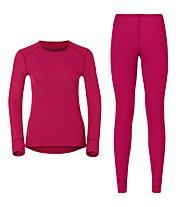 Odlo Set Shirt l/s Pants Evolution WARM Sportunterwäsche Komplet für Damen, Barberry