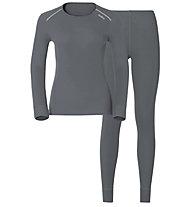 Odlo Set Shirt l/s Pants Evolution WARM Sportunterwäsche Komplet für Damen, Grey
