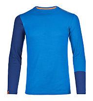 Ortovox 185 Rock'n Wool Long Sleeve langärmliges Merino-Funktionsshirt, Blue Ocean