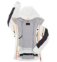 Peak Performance W Heli Chilkat Jacke, Offwhite/Coal/Monk Orange