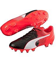 Puma Evo Speed 3.5 Lth FG - scarpe da calcio terreni compatti, Red/Black