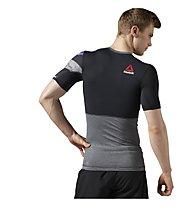 Reebok One Series Activchill Short Sleeve Compression Shirt Maglia a compressione fitness, Dark Grey