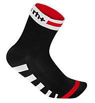 rh+ Ergo Sock (9 cm) Fahrradsocken, Black/White/Red