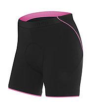rh+ Pantalone corto bici Fusion W I, Black/Deep Pink
