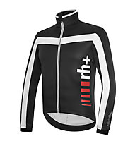 rh+ Giacca bici Logo Jacket, Black/White/Red