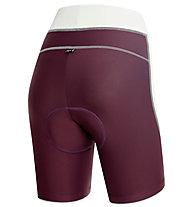 rh+ Spirit W Shorts Damen-Radhose, Grape Violet/White