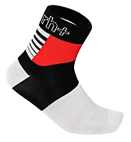 rh+ Zeta Sock 9 Fahrradsocken, Black/White/Red