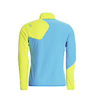 Rock Experience Ruout Full Zip giacca pile, Swedish Blue/Lime Punch