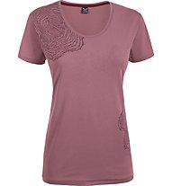 Salewa 80 Years T-shirt cotone donna, Antique Rose