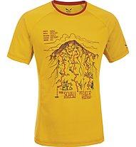 Salewa Ghilini Piola Dry'ton T-Shirt  arrampicata, Nugget Gold