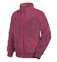 Salewa Puez (Laurin) PL K Full-Zip Kinder-Fleecejacke, Red Onion