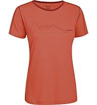 Salewa Sassolungo Dry'ton T-Shirt trekking donna, Clementine