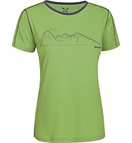 Salewa Sassolungo Dry'ton T-Shirt trekking donna, Foliage