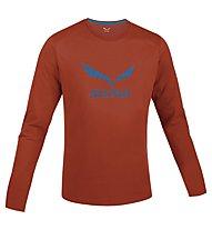 Salewa Solidlogo Shirt Langarm, Terracotta