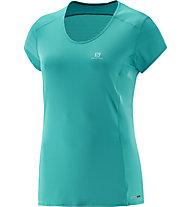 Salomon Comet Plus T-Shirt trekking donna, Teal Blue