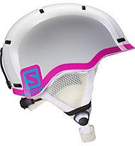 Salomon Grom - casco sci bambino, White Glossy/Pink