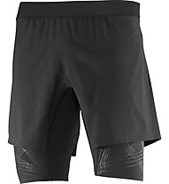 Salomon Intensity TW Short M - pantaloni corti running, Black