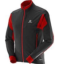 Salomon Momentum Softshell Jacket M Giacca Softshell, Black/Matador-X