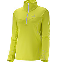 Salomon Trail Runner Warm Mid W Damen Langarm Laufshirt, Yellow