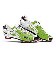 Sidi MTB Drako Carbon SRS Mountainbike-Schuhe, Green Fluo/White