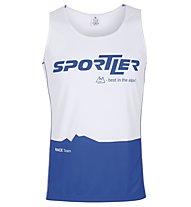 Sportler Sleeveless Nizza Shirt, White/Navy