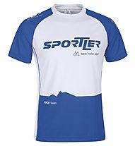Sportler SS Nizza Sportline Shirt, White/Navy