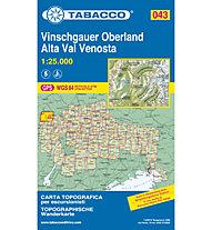 Tabacco N° 043 Alta Val Venosta/Vinschgauer Oberland (1:25.000), 1:25.000