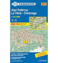 Tabacco N° 023 Alpi Feltrine/Le Vètte/Cimònega (1:25.000), 1:25.000
