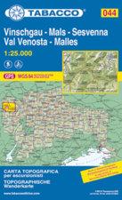Ausrüstung > Karten / Literatur > Tabacco Karten >  Tabacco N° 044 Vinschgau/Val Venosta-Sesvenna (1:25.000)