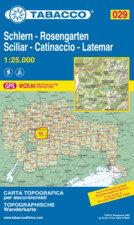 Ausrüstung > Karten / Literatur > Tabacco Karten >  Tabacco N° 029 Schlern - Rosengarten/ Sciliar - Catinaccio - Latemar (1:25.000)