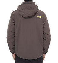 The North Face Resolve Insulated giacca con cappuccio, Black Ink Green/Venom Yellow