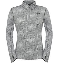 The North Face W Motivation 1/4 Zip Damen Fitness Pullover mit 1/4 Reißverschluss, Grey