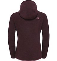 The North Face Zermatt Full Zip Hoodie Giacca in pile donna, Red