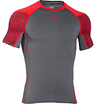 Under Armour Exlusive Coolswitch T-shirt compressiva da palestra, Grey/Red