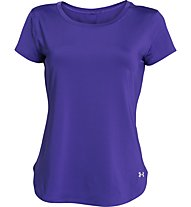 Under Armour Fly By 2.0 T-shirt running donna, Deep Orchid