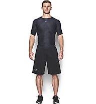 Under Armour HeatGear Printed Kompressionsshirt Herren, Black