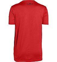 Under Armour Logo Hybrid Shirt Jungen, Risk Red/Black